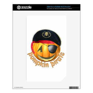 Pumpkin Pirate Decal For The NOOK Color