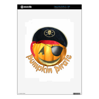 Pumpkin Pirate Decals For The iPad 2