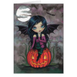 Pumpkin Pixie Cute Vampire Halloween Card