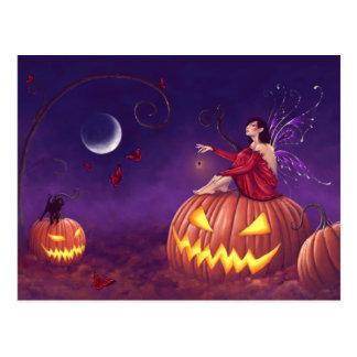 Pumpkin Pixie Fairy Art Postcard