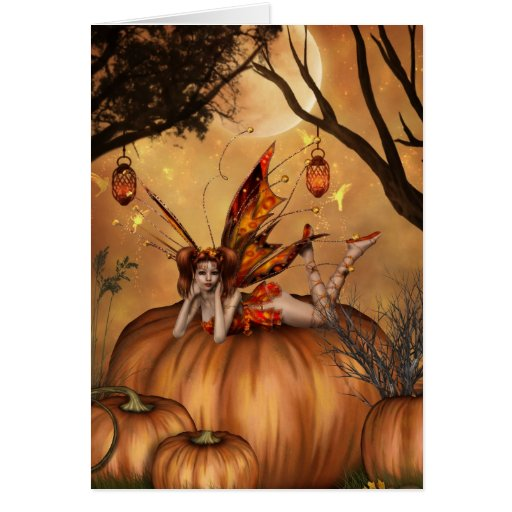 Pumpkin Pixie Greeting Card
