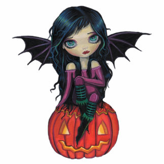 Pumpkin Pixie Halloween Acrylic Photo Sculpture