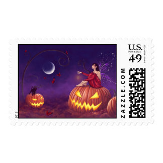 Pumpkin Pixie Halloween Fairy Postage