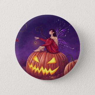Pumpkin Pixie Holloween Fairy Button Badge