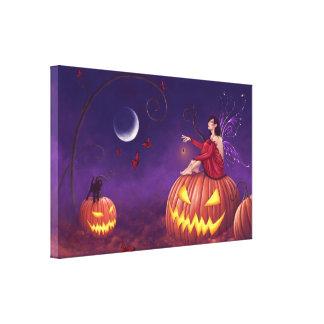 Pumpkin Pixie Holloween Fairy Canvas Art Print Canvas Print