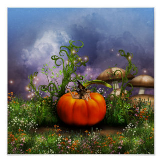 Pumpkin Pixie Poster