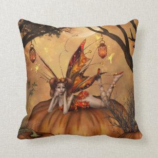 Pumpkin Pixie Throw Pillow