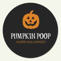 Pumpkin Poop Halloween Sticker Labels