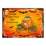 Pumpkin Prince Halloween Boy Baby Shower Card