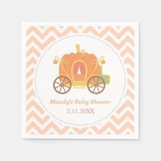 Pumpkin Princess Carriage Baby Shower Supplies Paper Napkin