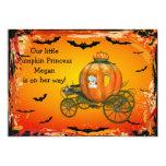 Pumpkin Princess Halloween Girl Baby Shower Card