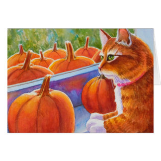 Pumpkin, Pumpkin Cat Card
