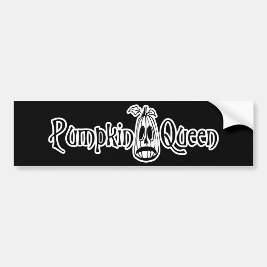 Pumpkin Queen B&W Bumper Sticker