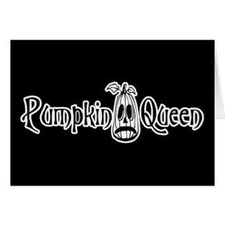 Pumpkin Queen B&W Card