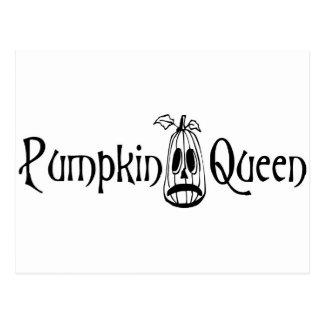 Pumpkin Queen B&W Postcard