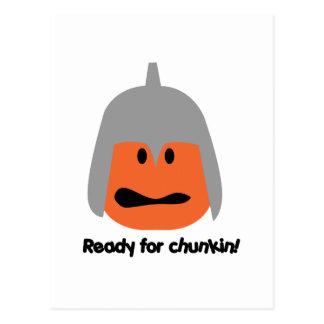 Pumpkin ready for chunkin t-shirt postcard