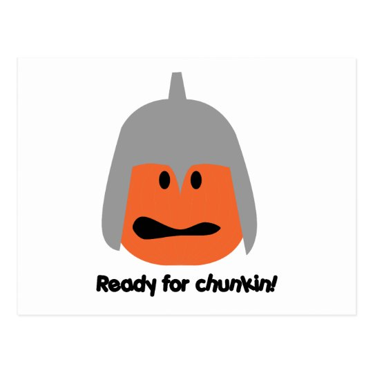 Pumpkin ready for chunkin t-shirt postcard