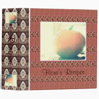 Pumpkin Recipe Book Binder