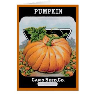 pumpkin retro card