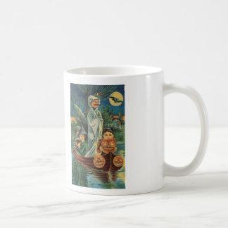 Pumpkin Ride Cross Stitch Coffee Mug