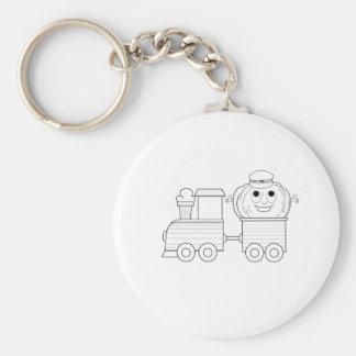 Pumpkin Rides Train Keychain