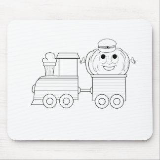 Pumpkin Rides Train Mousepads