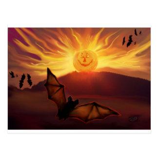 Pumpkin Rise Halloween Art Postcard