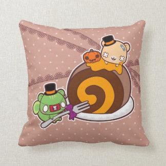 Pumpkin Roll Delight Throw Pillow