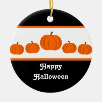 Pumpkin Row Halloween Ornament