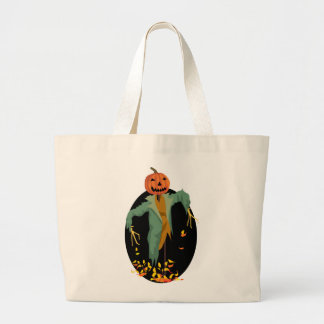 Pumpkin Scarecrow Tote Bags