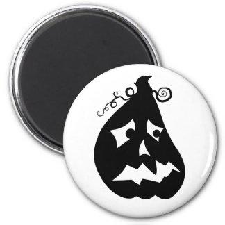 Pumpkin Scared 2 Inch Round Magnet