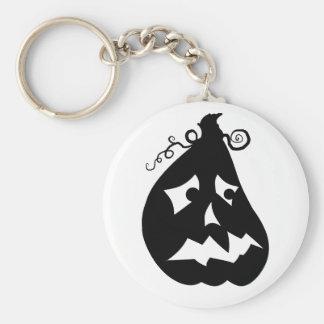 Pumpkin Scared Basic Round Button Keychain