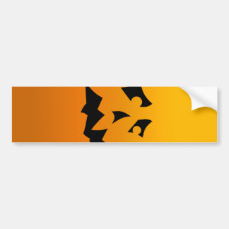 Pumpkin Scared Bumper Sticker