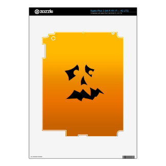 Pumpkin Scared Decal For iPad 3