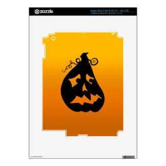 Pumpkin Scared Decals For iPad 3