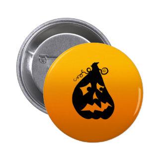 Pumpkin Scared Pinback Button