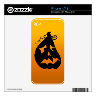 Pumpkin Scared Skin For The iPhone 4S