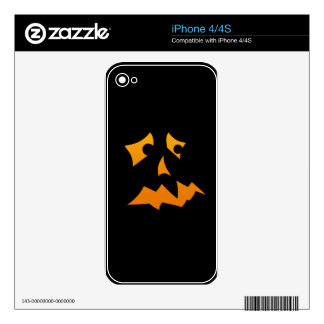 Pumpkin Scared Skins For The iPhone 4
