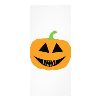 Pumpkin Scary halloween Full Color Rack Card