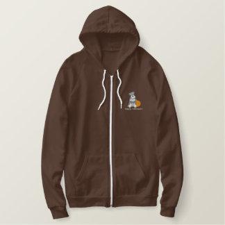 Pumpkin Schnauzer Embroidered Shirt (Zip Hoodie)