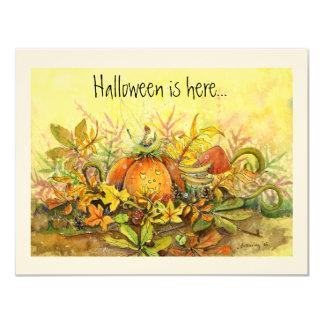 """Pumpkin Seat  Invite 4.25"""" X 5.5"""" Invitation Card"""
