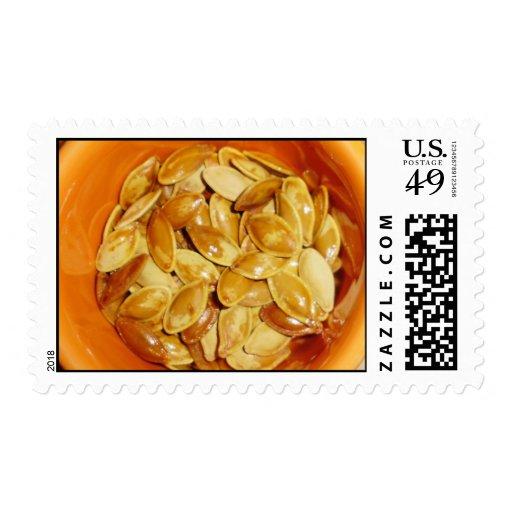 Pumpkin seed stamps