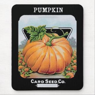 pumpkin seeds vintage art mouse pad