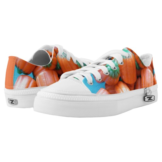 Pumpkin Shaped Candy Corn Photo Design Low-Top Sneakers
