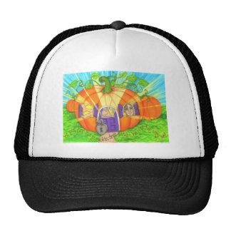 pumpkin shell trucker hat