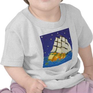 Pumpkin Ship at Sea Tshirt