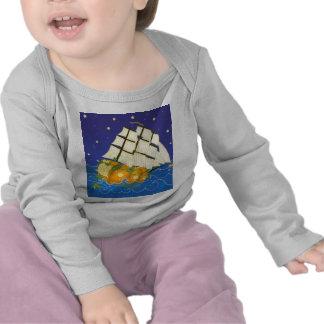 Pumpkin Ship at Sea T-shirt