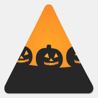 Pumpkin Silhouettes Triangle Sticker
