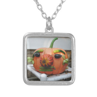 Pumpkin Silver Plated Necklace