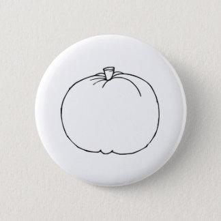 Pumpkin Sketch Pinback Button